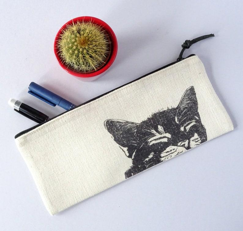 Black Cat Pencil Case Black Cat Lover Gift Cute Cat Printed Pencil Case