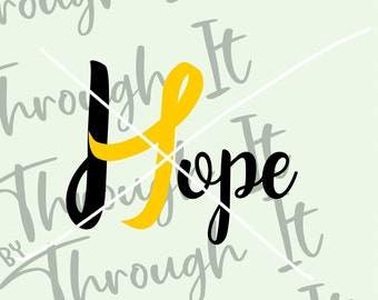 Suicide Awareness SVG - Hope Suicide Ribbon Digital File - Endometriosis Ribbon SVG - Endometriosis Fighter - Mental Health Awareness
