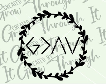 God Is Greater Than The Highs & Lows SVG Cut File - Circut Silhouette File - Christian SVG - Jesus Digital File - Personal/Commercial Use