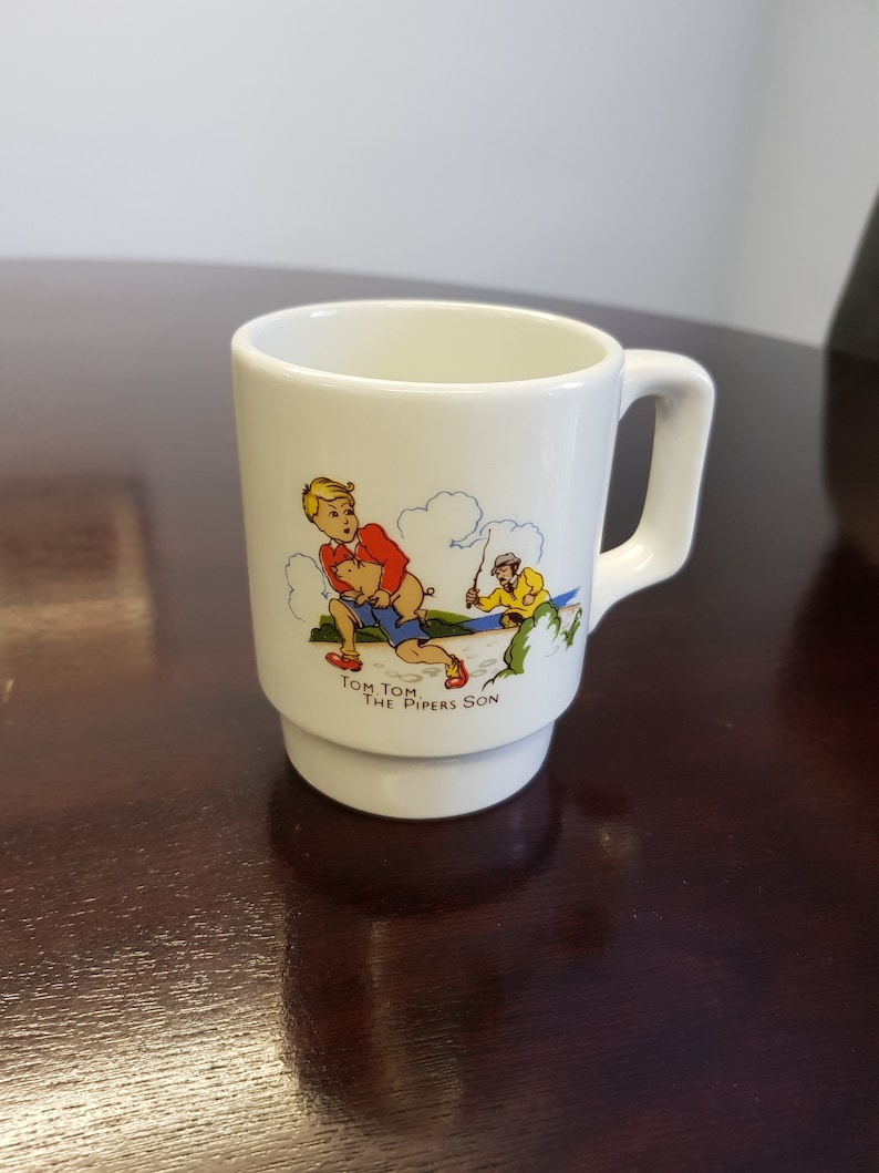 China & Dinnerware Vintage Nursery Mug Tiny Tom Tom The Pipers Son