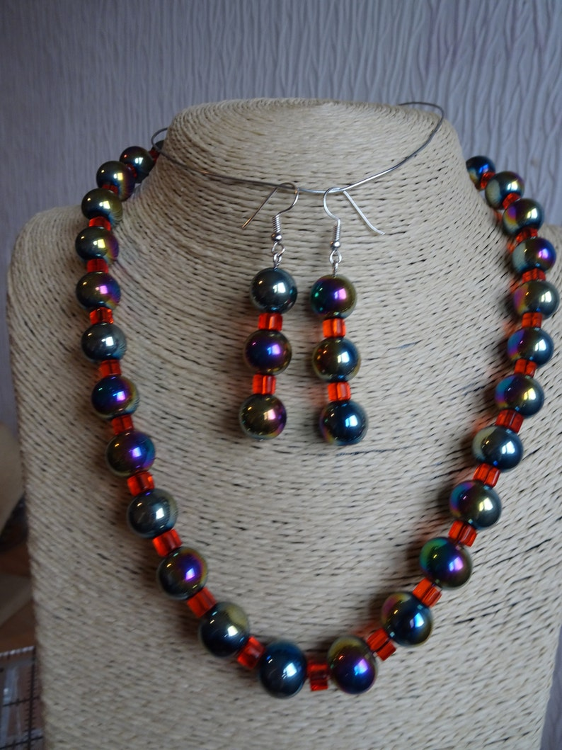 Three Delightful uniquely beautiful Necklaces /& Earrings sets to choose from are perfect for any occasion or Gifts Hematite Jewellery Sets