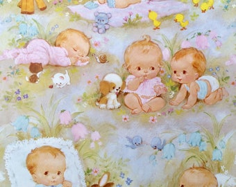Baby Gift Wrap, Baby Shower Gift Wrap, Vintage Gift Wrap, Wrapping Paper, New Baby Gift Wrap, Gift Wrap, Gift Wrapping, Baby Boy, Baby Girl