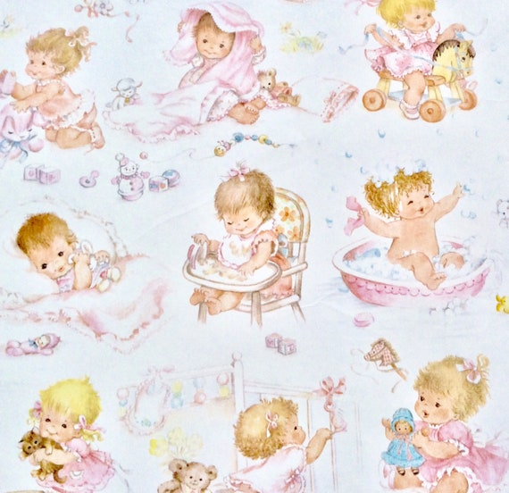 Baby Gift Wrapping Baby Shower Or New Baby Girl Vintage Gift Etsy