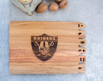 Oakland Raiders sign, gifts, Raiders cutting board, Oakland Raiders accessories for men, home decor, kitchen signs decor decorations