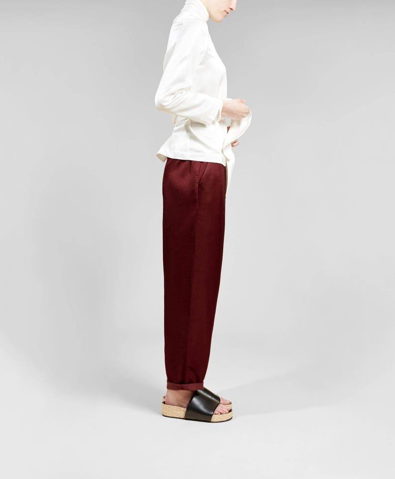 7014d44d9 Womens Trousers Womens Pants Linen Trousers Lounge Wear | Etsy