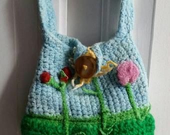 Flower themed bag