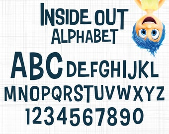 inside out alphabet clip arts inside out letter clip arts svg for cricut and silhouette studio inside out numbers svg inside out font svg