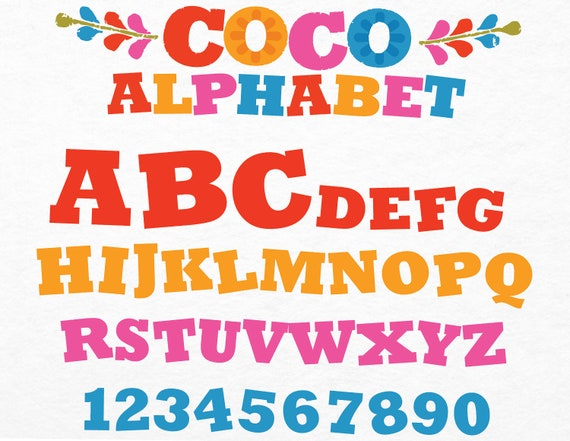 Disney Coco Movie Letters Related Keywords & Suggestions