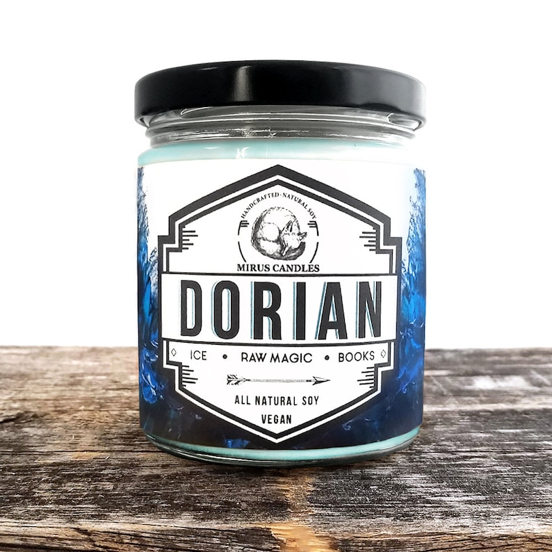 Dorian Soy Candle   Throne of Glass Inspired Candle - Book Candle - 8oz All  Natural Vegan Soy- Mirus Candles