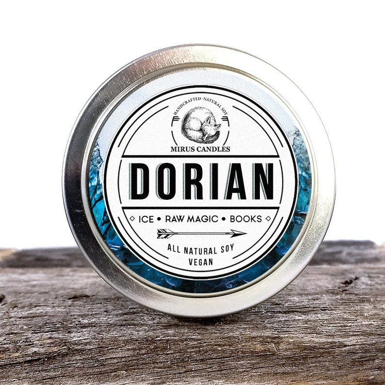 Dorian Soy Candle   Throne of Glass Inspired Candle - Book Candle - 4oz All  Natural Vegan Soy- Mirus Candles
