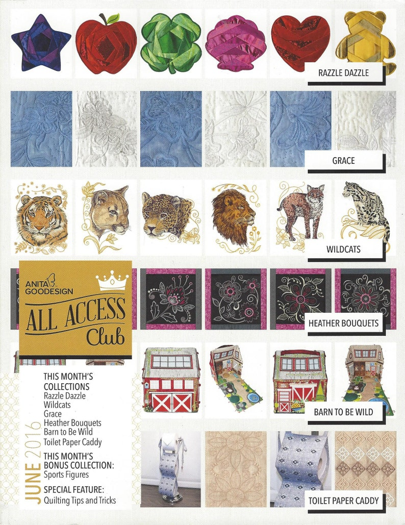 All Access 2015 thru 2019 Complete Includes August 2019 Anita Goodesign  Collection