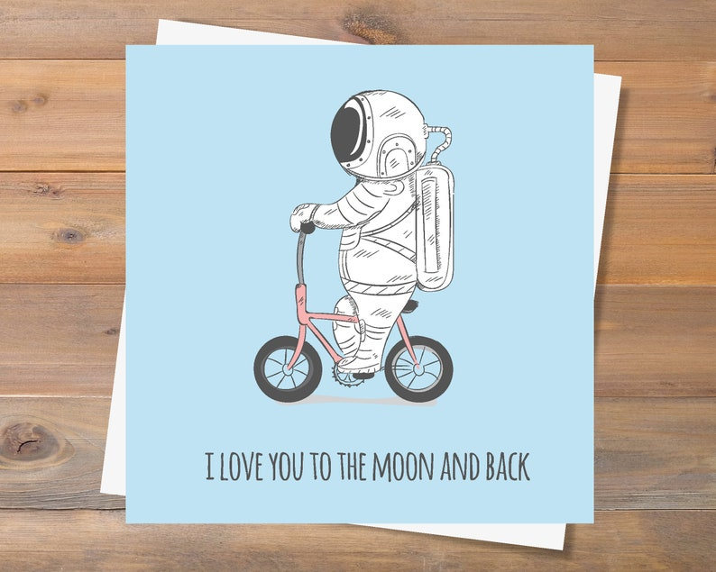 Love Card I love you to the moon and back Girlfriend Card I love you Card Boyfriend Card Printable Anniversary Card INSTANT DOWNLOAD