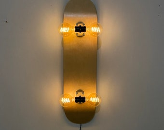 Skateboard Accent Wall Lamp Sconce - Solid Colors