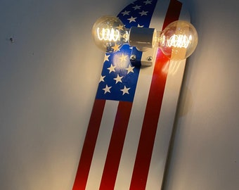 American Flag Skateboard Accent Lamp Wall Sconce