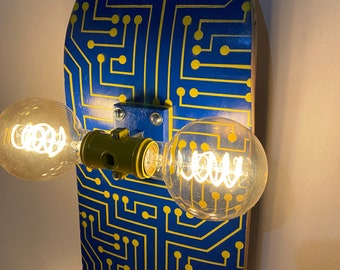 Circuitboard Skateboard Accent Lamp Wall Sconce - Circuits