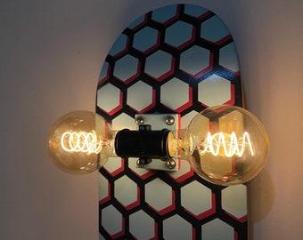 Hexagon Skateboard Accent Lamp Wall Sconce