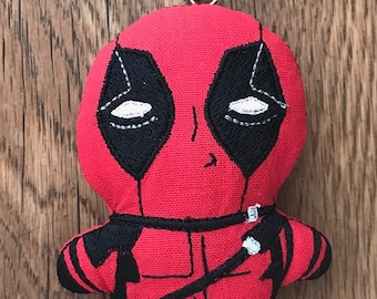 Deadpool (Stuffed) - ITH 4x4 Machine Embroidery Design Download