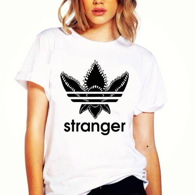 a5b2c83ebc Stranger Things Adidas Demogorgon Parody T-shirt Unisex Funny | Etsy
