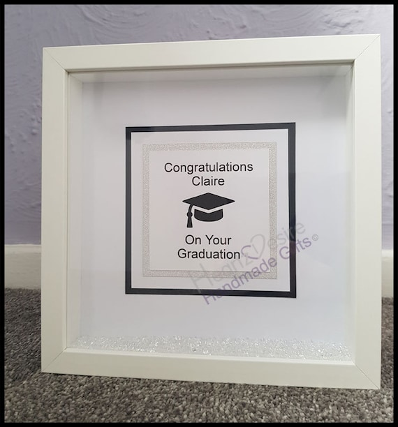 Personalised Box Frame Graduation Gift Graduation Box Frame Etsy