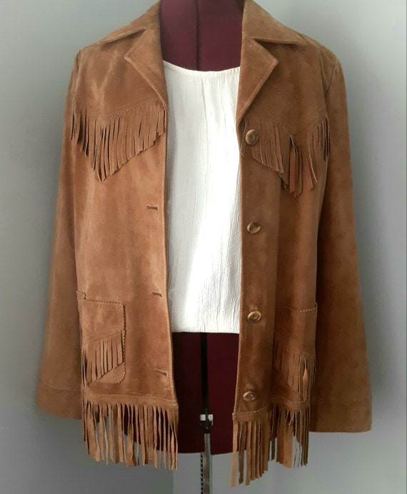 Vintage Suede Jacket with Fringe