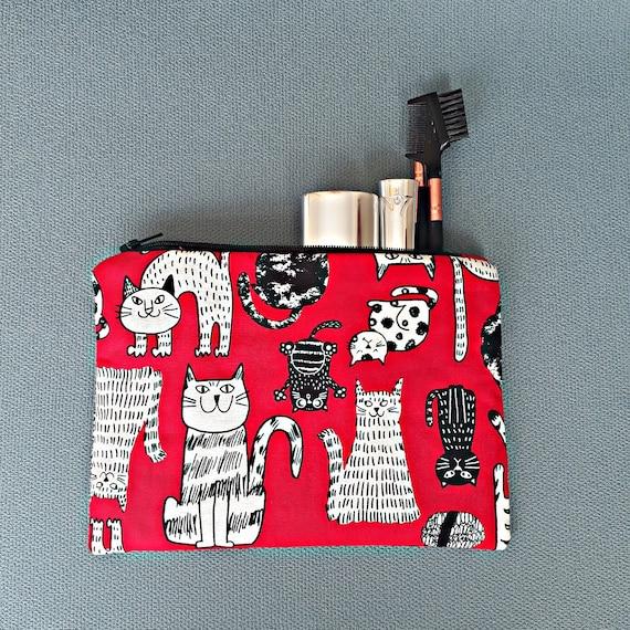 Sac de chat, maquillage de sac, sac chat en tissu, couture sac, sac de médecine, grand sac à main, sac de téléphone, casque sac, pochette, cadeau d'amant de chat