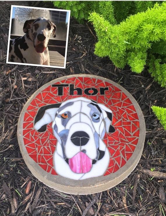 Pet Memorial Garden Step-Stone Custom Available