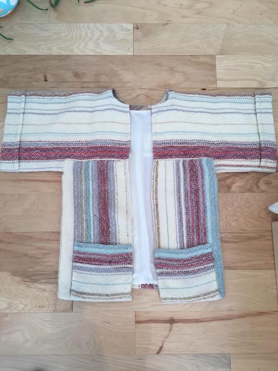 1970s handmade wool poncho/ jacket