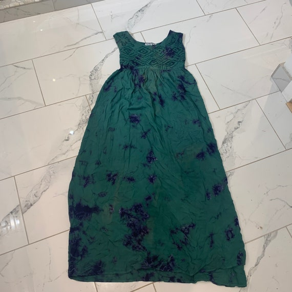 Vintage maxi dress // tie dye // small