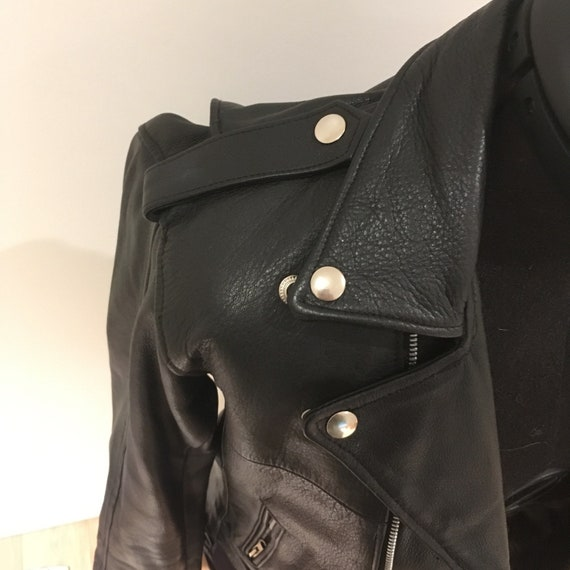 Classic Vintage Leather Biker Jacket