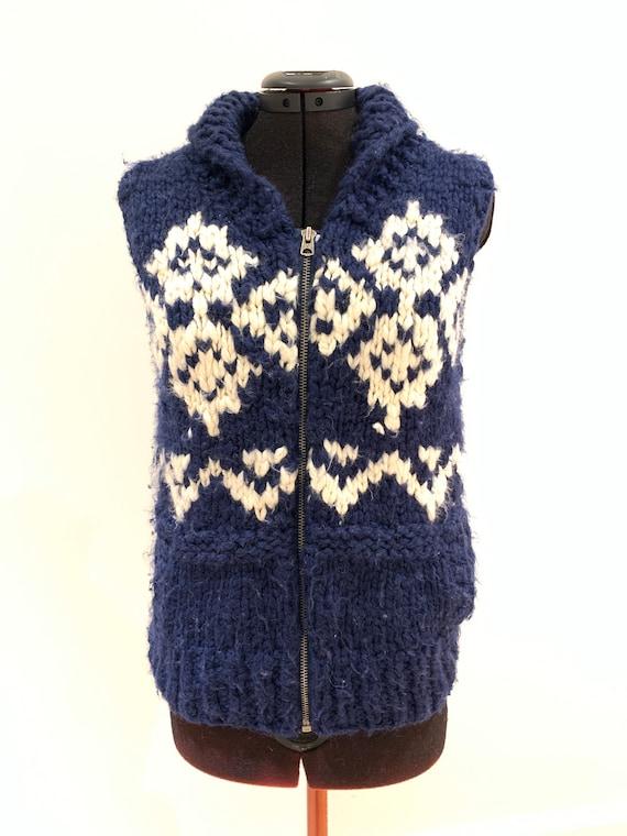 Vintage Cowichan sweater Vest