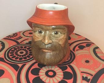 Vintage 3D fisherman Face Mug
