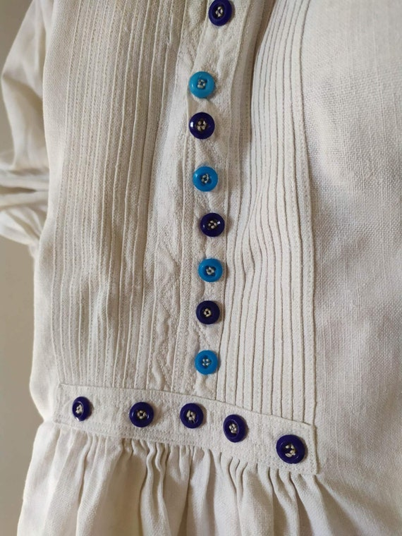 Vintage Romanian Dress! Antique  fabric! Handimad… - image 8
