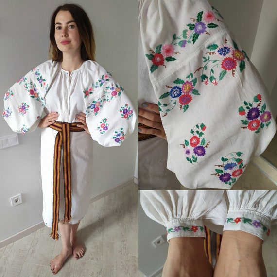 Feminine design  Vintage Dress Ukrainian Vyshyvank