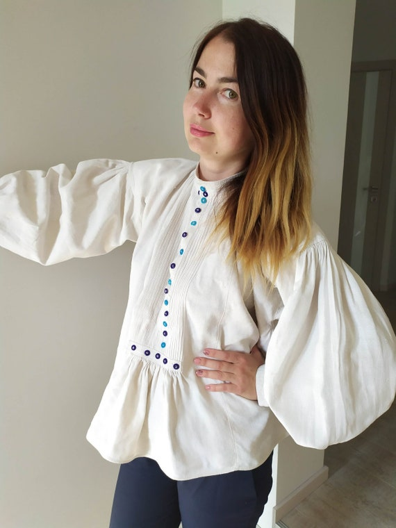 Vintage Romanian Dress! Antique  fabric! Handimad… - image 4