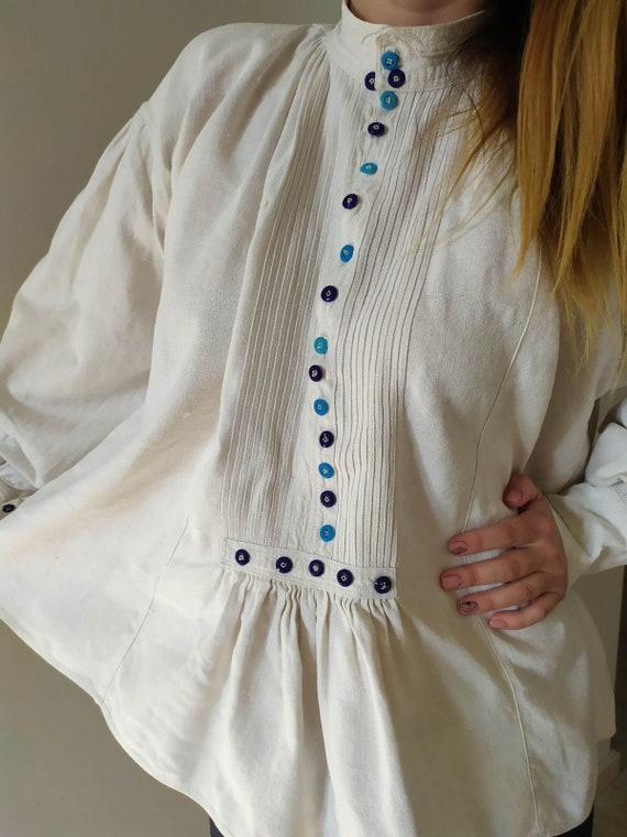 Vintage Romanian Dress! Antique  fabric! Handimad… - image 5
