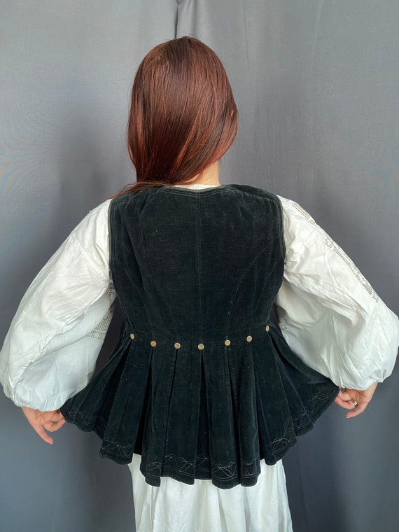 Noble Vest Velvet vest Vintage vest Antique vest … - image 6
