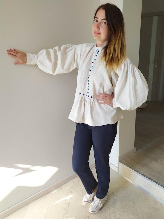 Vintage Romanian Dress! Antique  fabric! Handimad… - image 3