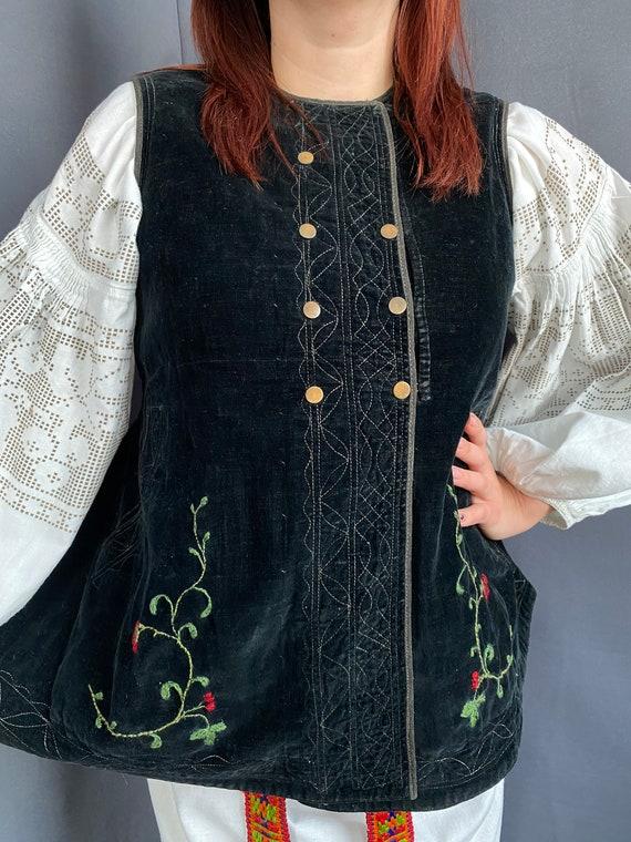Noble Vest Velvet vest Vintage vest Antique vest … - image 5