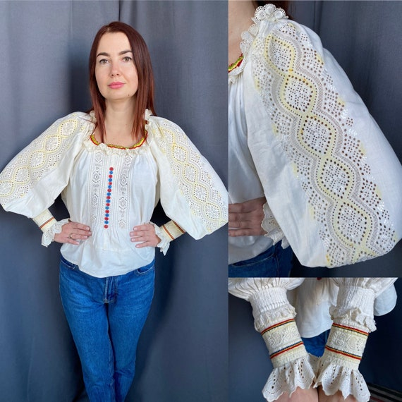 Hungarian blouse Romanian blouse Embroidered blous
