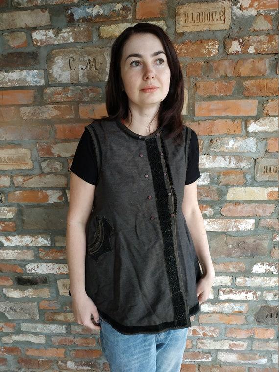 Vest Ukrainian vest Vintage vest Antique vest Fol… - image 8