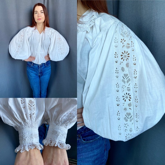 Reserved Hungarian blouse Romanian blouse Embroide