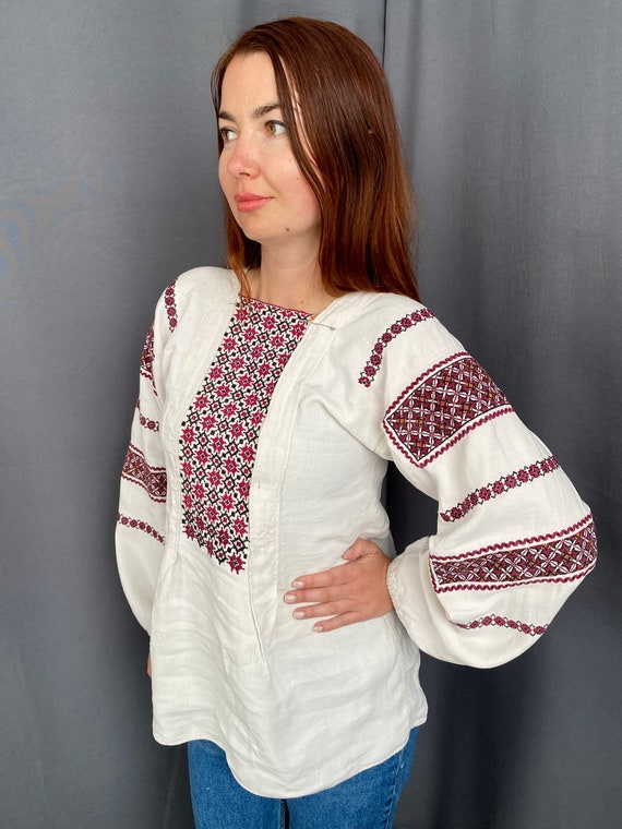 Vintage Catedral Shirt Pattern Ornament Paraguay Handmade