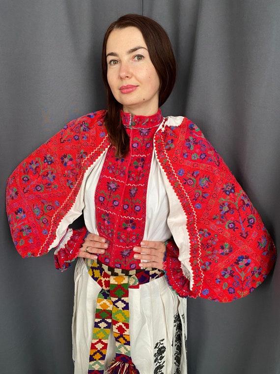 Gorgeous Red Romanian dress  Completely handmade U