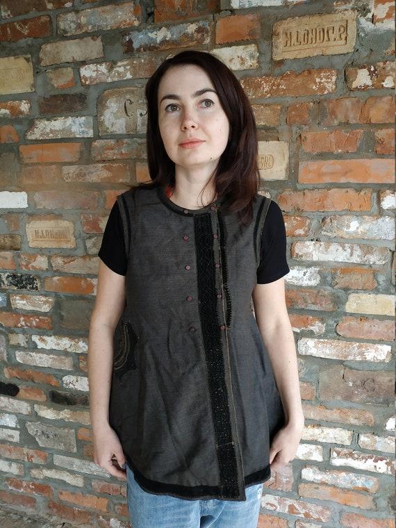 Vest Ukrainian vest Vintage vest Antique vest Fol… - image 9