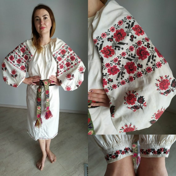 Embroidered dress  Folk embroidered  Ukrainian sty