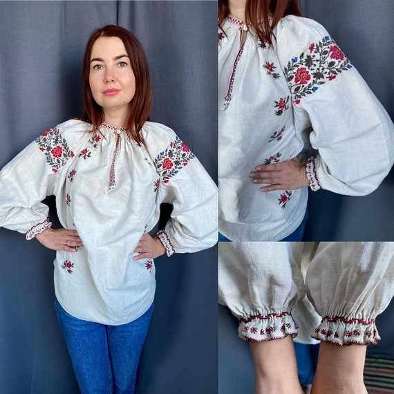 Embroidered blouse Vintage blouse Vintage outfit U