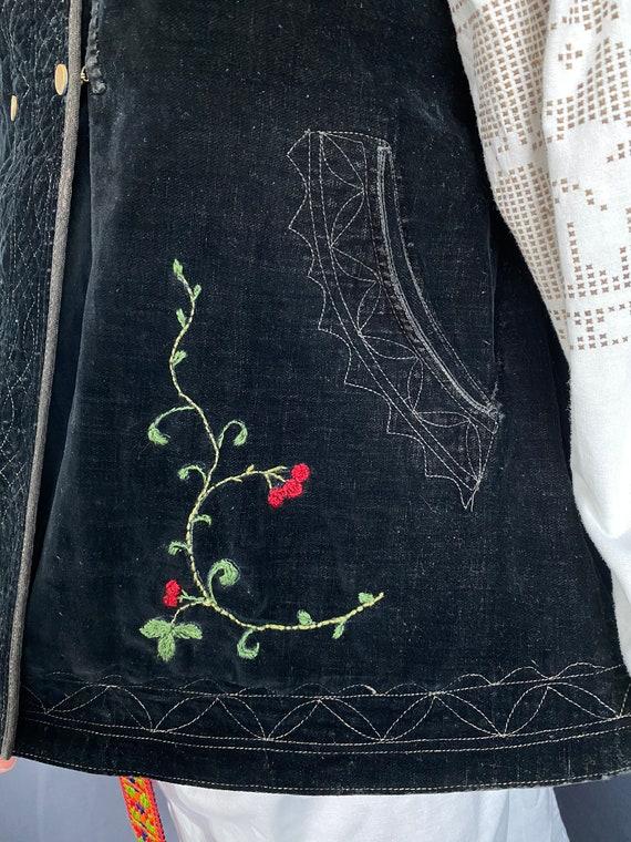 Noble Vest Velvet vest Vintage vest Antique vest … - image 4
