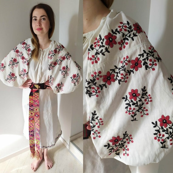 Cute embroidered dress! Ukrainian dress Cotton emb