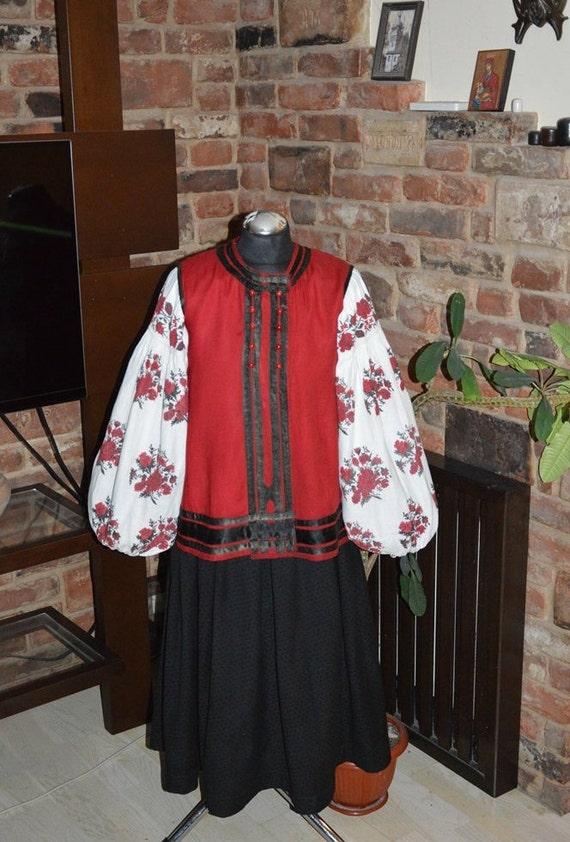 Beautiful ukranian costume Antique vest Antique sk
