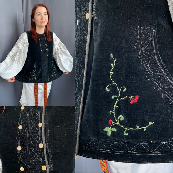 Noble Vest Velvet vest Vintage vest Antique vest … - image 1